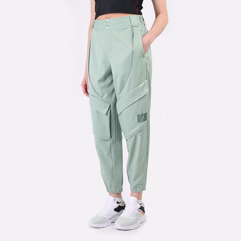 женские зеленые  брюки jordan essentials utility pants CW6450-006 - цена, описание, фото 1