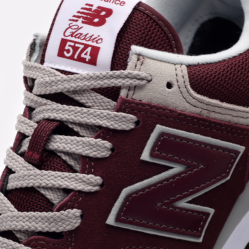 мужские бордовые  кроссовки new balance 574 ML574EGB/D - цена, описание, фото 6