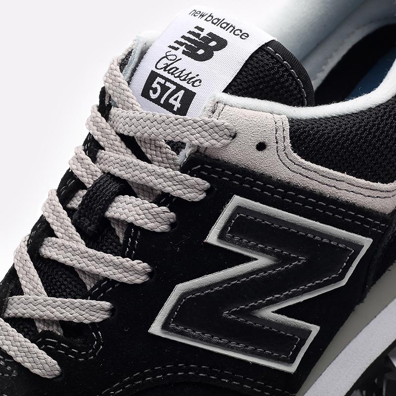 мужские чёрные  кроссовки new balance 574 ML574EGK/D - цена, описание, фото 6