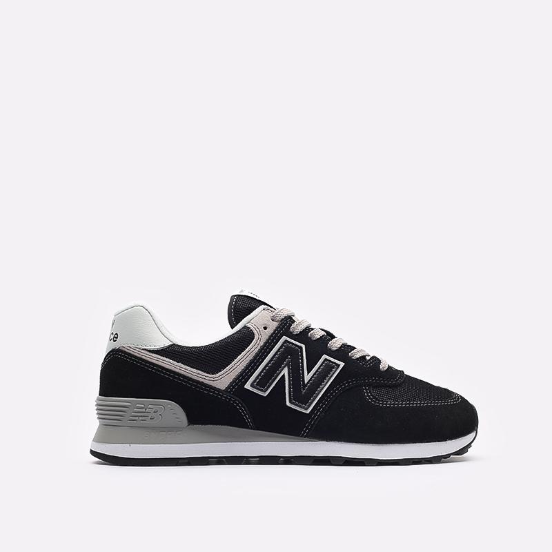 мужские чёрные  кроссовки new balance 574 ML574EGK/D - цена, описание, фото 1