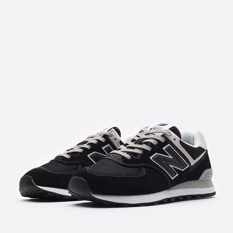 мужские чёрные  кроссовки new balance 574 ML574EGK/D - цена, описание, фото 2
