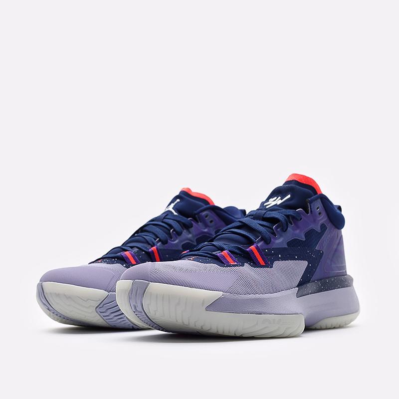 мужские синие  кроссовки jordan zion 1 DA3130-400 - цена, описание, фото 2