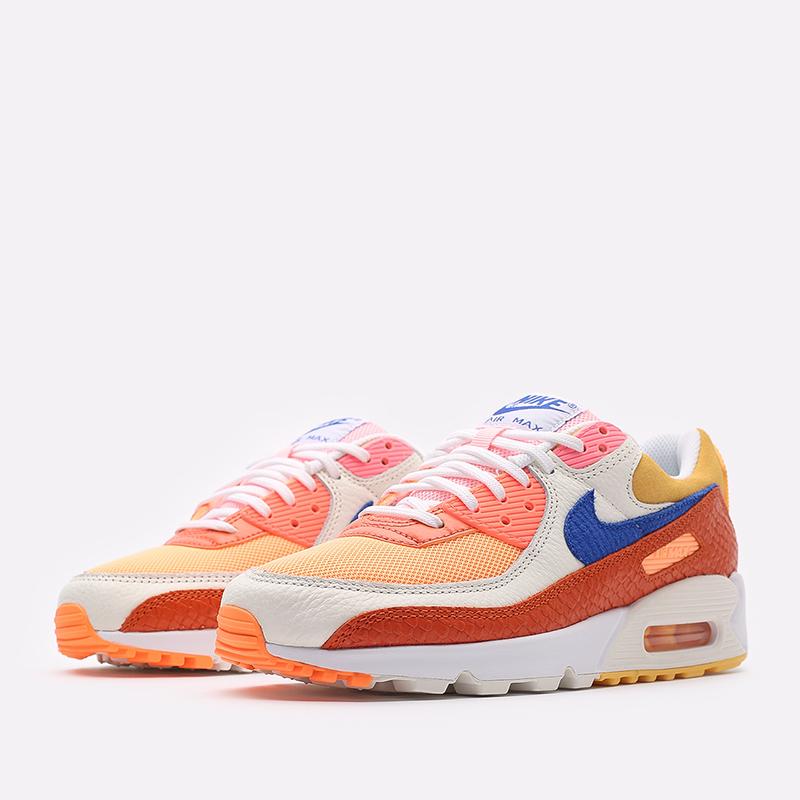 женские жёлтые, оранжевые  кроссовки nike wmns air max 90 DJ8517-800 - цена, описание, фото 2