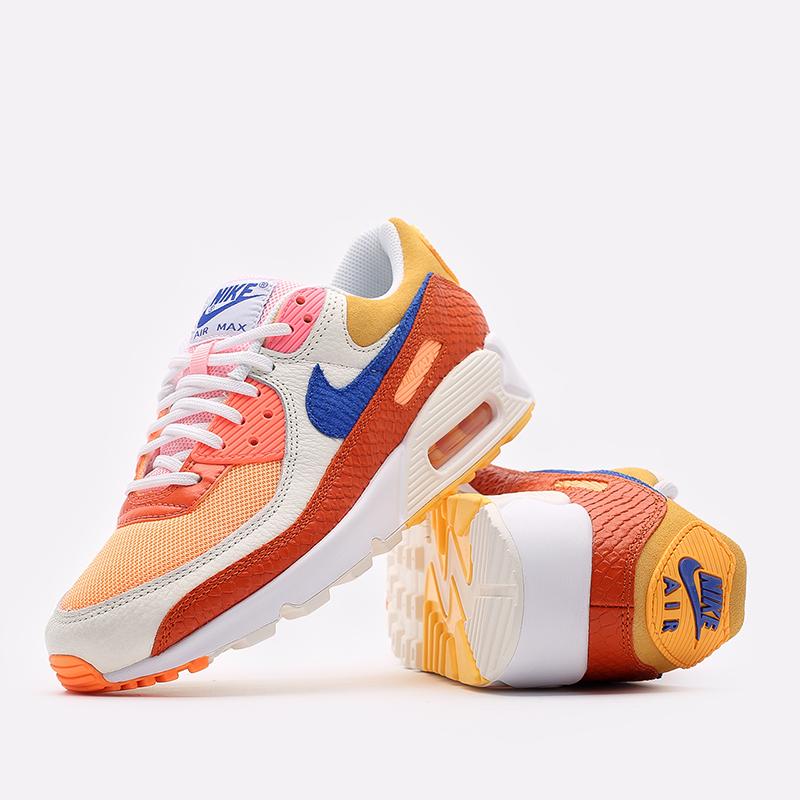 женские жёлтые, оранжевые  кроссовки nike wmns air max 90 DJ8517-800 - цена, описание, фото 5