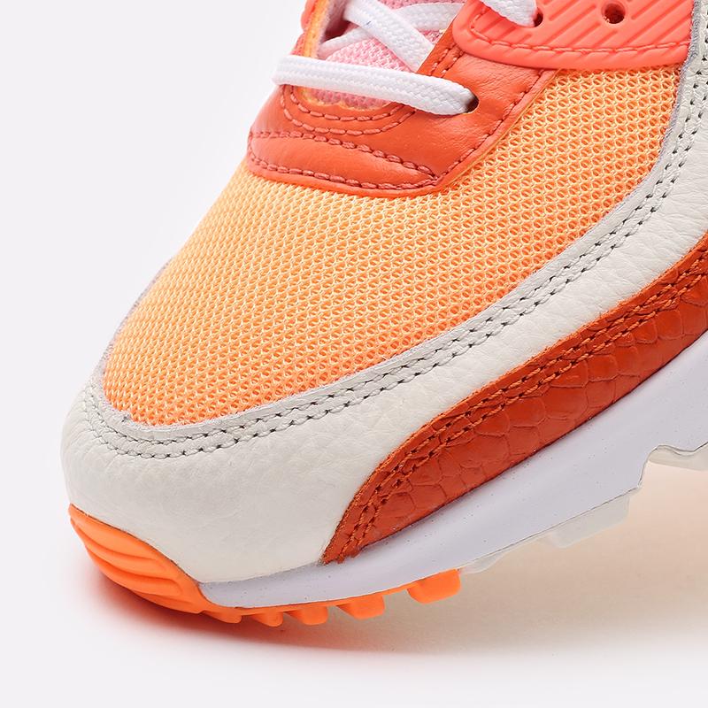 женские жёлтые, оранжевые  кроссовки nike wmns air max 90 DJ8517-800 - цена, описание, фото 6