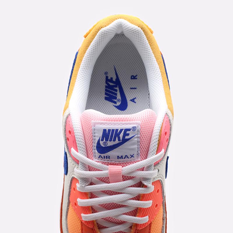 женские жёлтые, оранжевые  кроссовки nike wmns air max 90 DJ8517-800 - цена, описание, фото 7