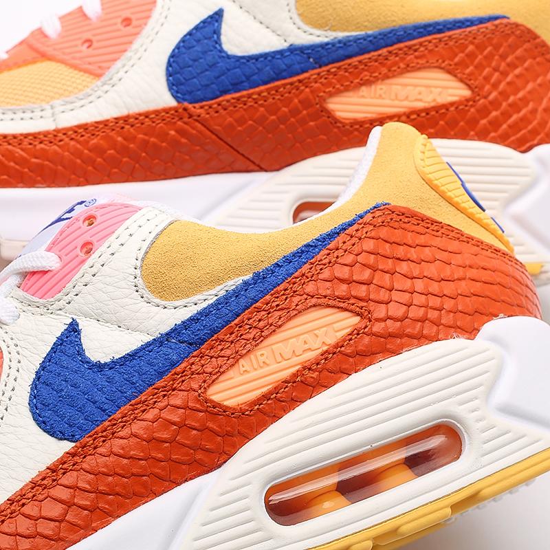 женские жёлтые, оранжевые  кроссовки nike wmns air max 90 DJ8517-800 - цена, описание, фото 8