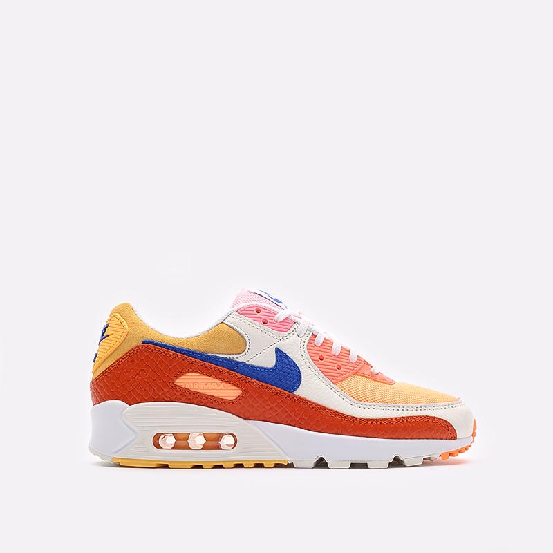 женские жёлтые, оранжевые  кроссовки nike wmns air max 90 DJ8517-800 - цена, описание, фото 1