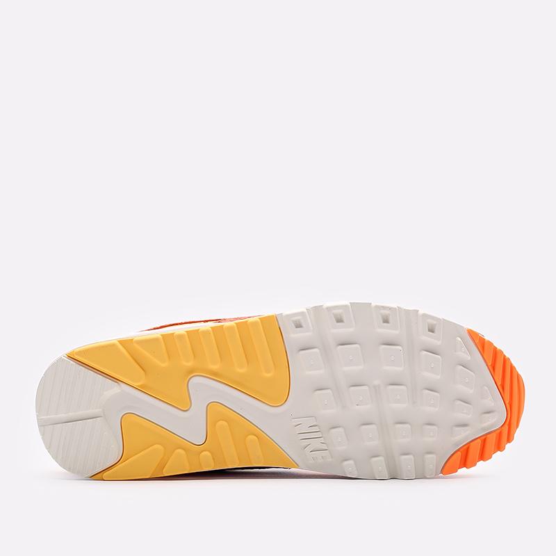женские жёлтые, оранжевые  кроссовки nike wmns air max 90 DJ8517-800 - цена, описание, фото 3