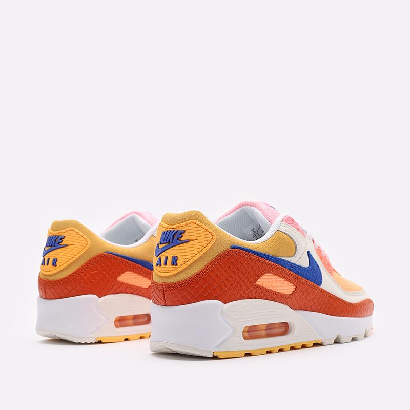 женские жёлтые, оранжевые  кроссовки nike wmns air max 90 DJ8517-800 - цена, описание, фото 4