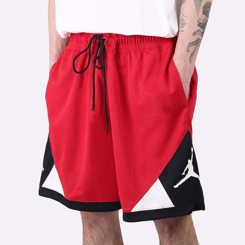 мужские красные  шорты  jordan dri-fit air diamond shorts CV3086-687 - цена, описание, фото 1