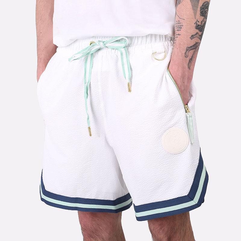 мужские белые  шорты  puma step back short 59874201 - цена, описание, фото 1