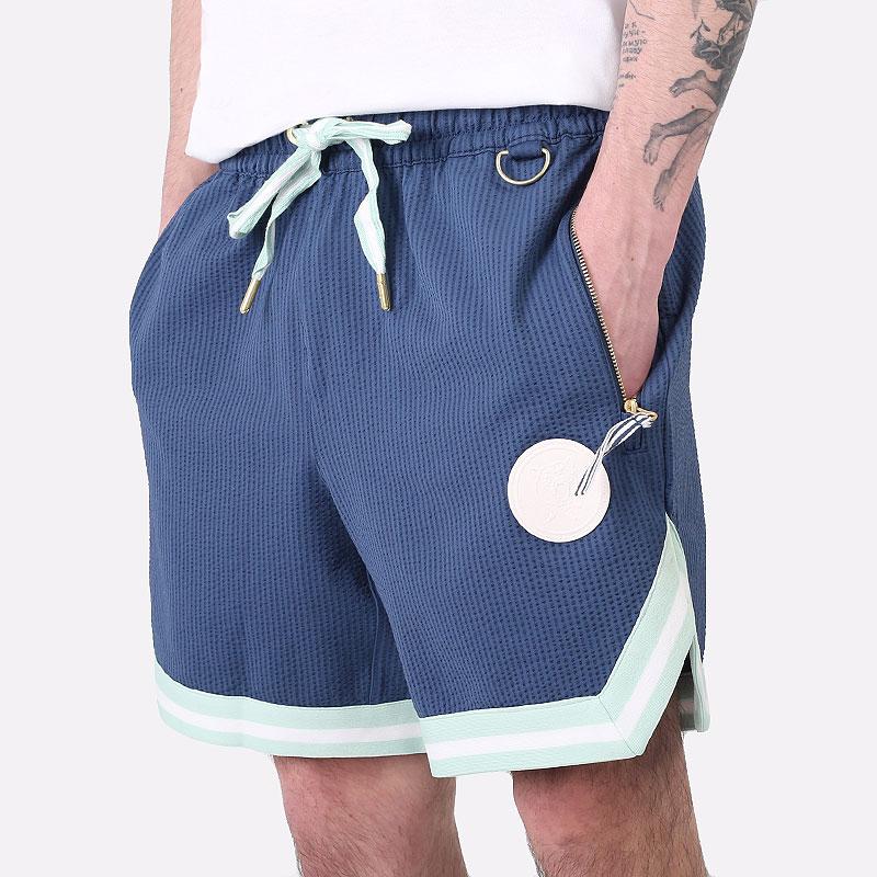 мужские синие  шорты  puma step back short 59874202 - цена, описание, фото 1