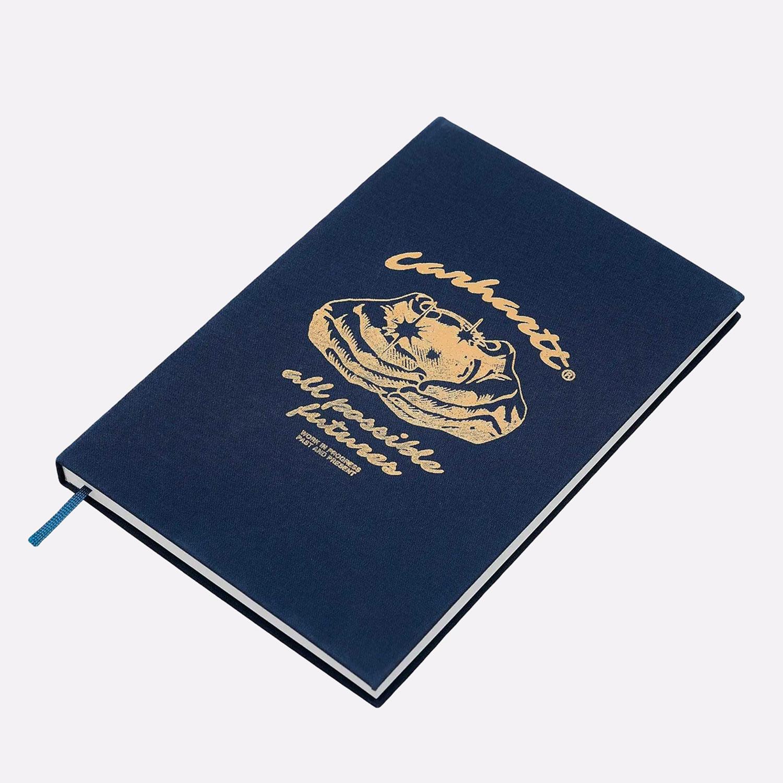 синий  блокнот carhartt wip fortune notebook I029218-gold - цена, описание, фото 1