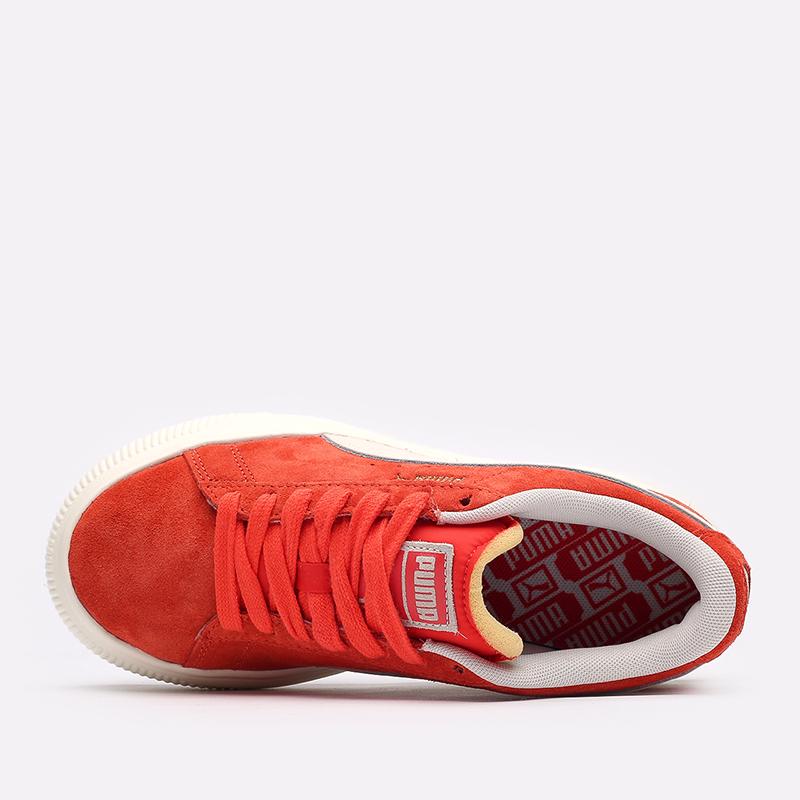 женские красные кроссовки PUMA Suede Mayu UP Wn's 38165002 - цена, описание, фото 4