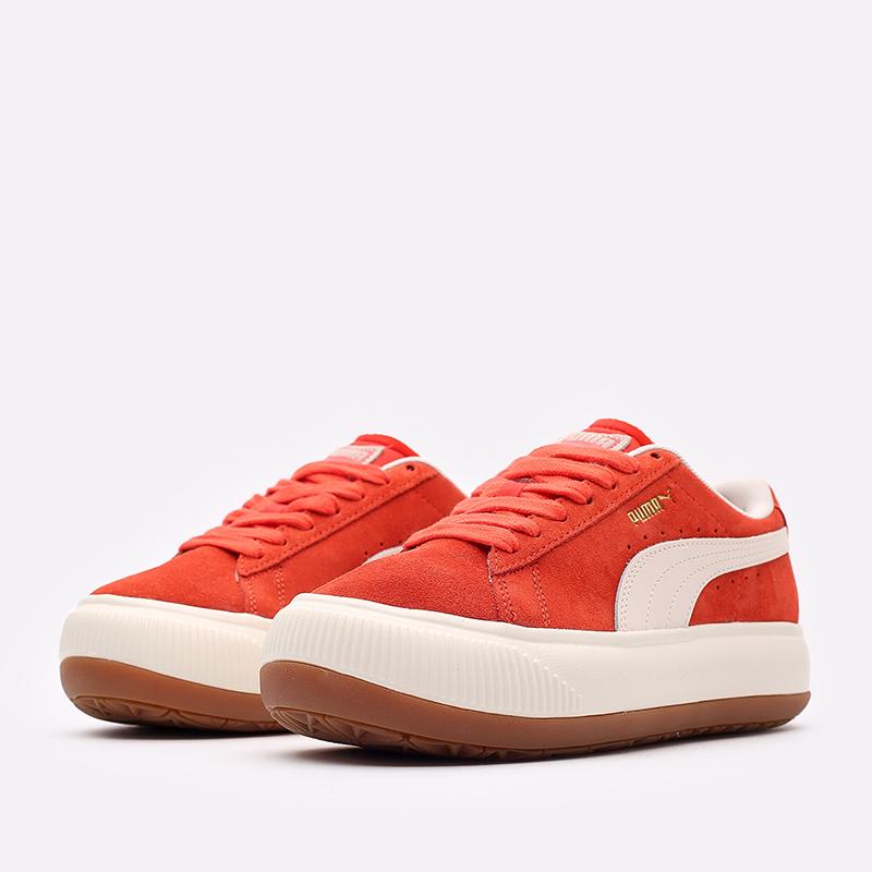 женские красные кроссовки PUMA Suede Mayu UP Wn's 38165002 - цена, описание, фото 2