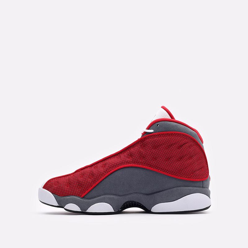 мужские белые, красные, серые  кроссовки jordan 13 retro DJ5982-600 - цена, описание, фото 2