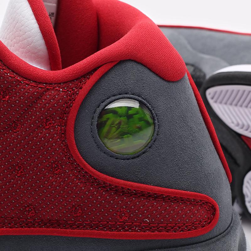 мужские белые, красные, серые  кроссовки jordan 13 retro DJ5982-600 - цена, описание, фото 7