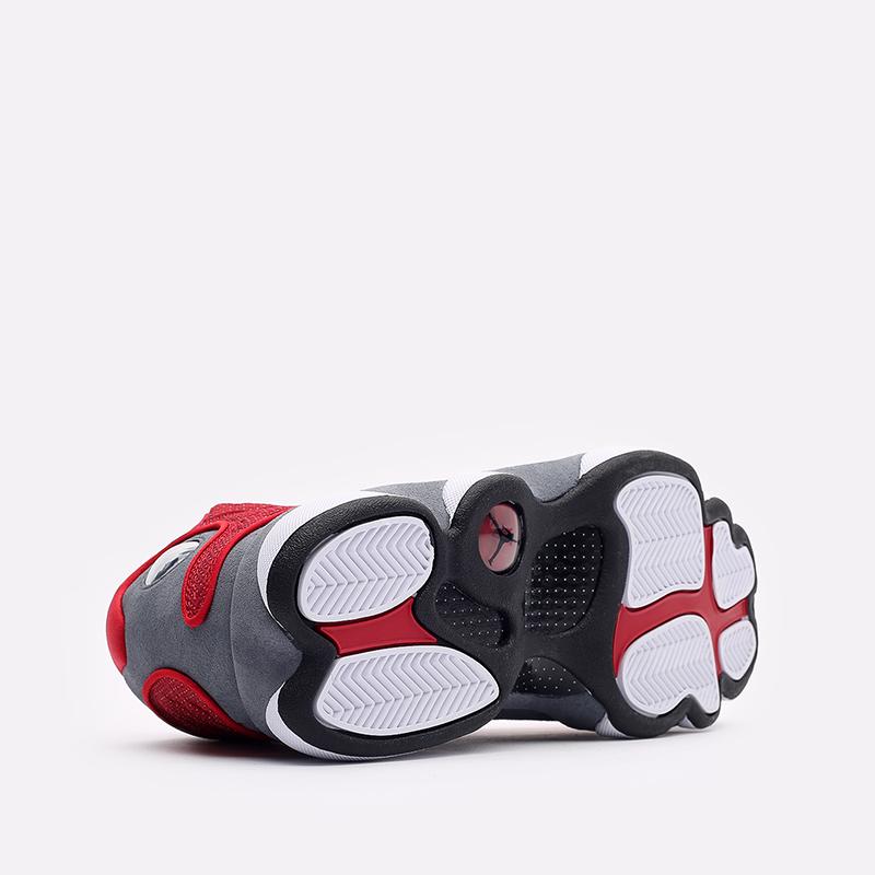мужские белые, красные, серые  кроссовки jordan 13 retro DJ5982-600 - цена, описание, фото 5