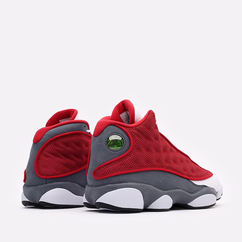 мужские белые, красные, серые  кроссовки jordan 13 retro DJ5982-600 - цена, описание, фото 3