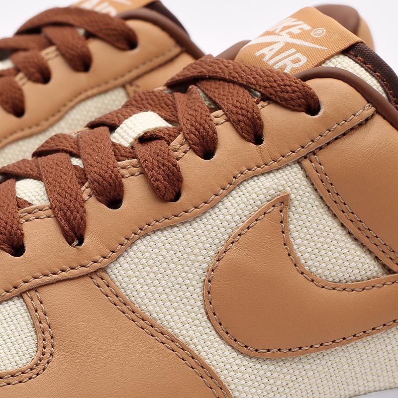 мужские бежевые  кроссовки nike air force 1 qs DJ6395-100 - цена, описание, фото 5
