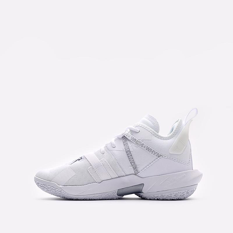 женские белые  кроссовки jordan why not zero.4 (gs) CQ9430-101 - цена, описание, фото 2