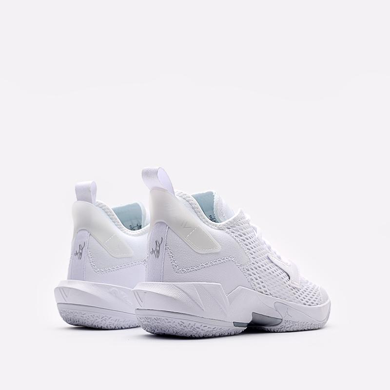 женские белые  кроссовки jordan why not zero.4 (gs) CQ9430-101 - цена, описание, фото 3