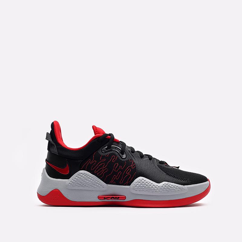 чёрные, красные  кроссовки nike pg 5 CW3143-002 - цена, описание, фото 1