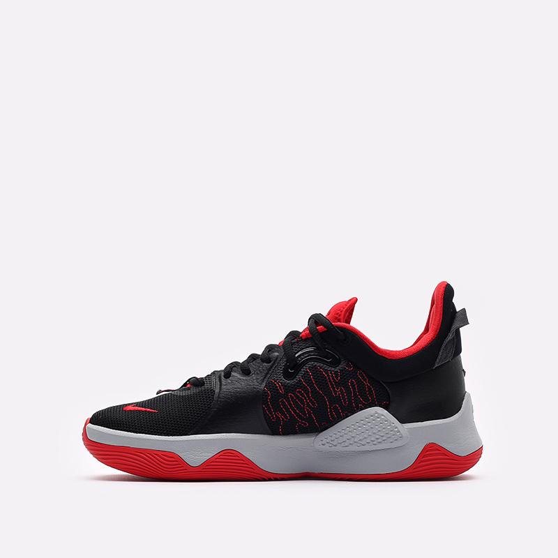 чёрные, красные  кроссовки nike pg 5 CW3143-002 - цена, описание, фото 2