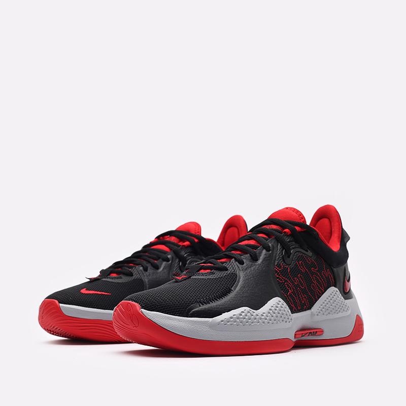 чёрные, красные  кроссовки nike pg 5 CW3143-002 - цена, описание, фото 4