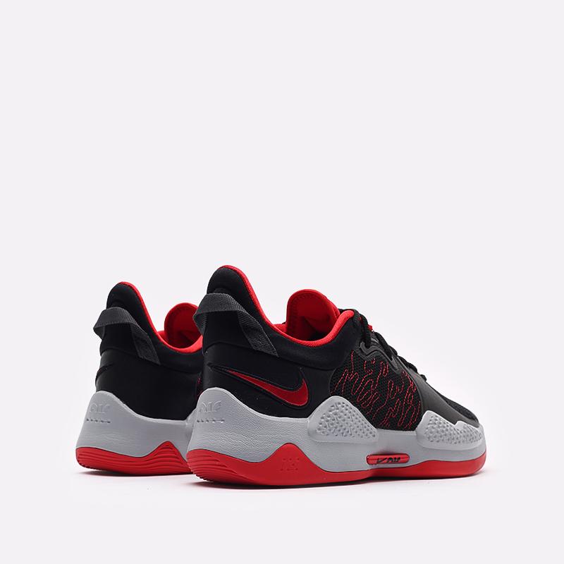 чёрные, красные  кроссовки nike pg 5 CW3143-002 - цена, описание, фото 3