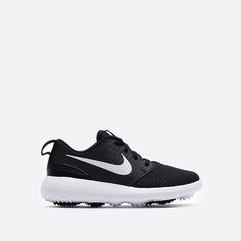 детские чёрные  кроссовки nike roshe g jr 909250-007 - цена, описание, фото 1