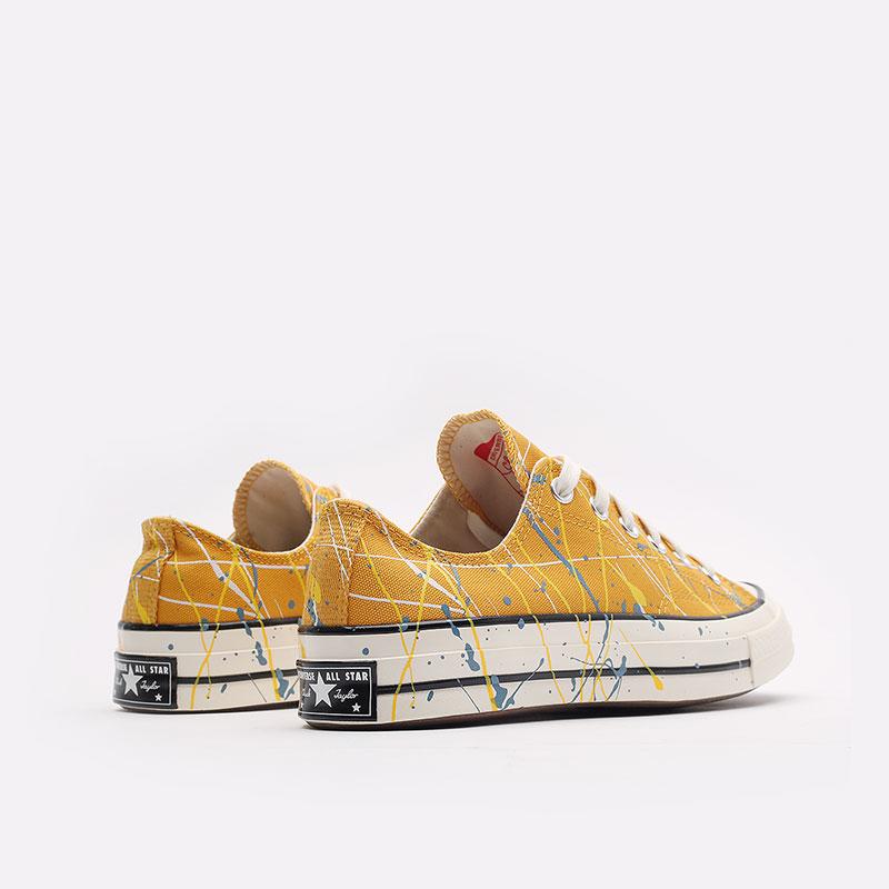 мужские жёлтые  кеды converse chuck 70 ox 170804 - цена, описание, фото 3