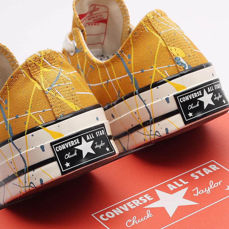 мужские жёлтые  кеды converse chuck 70 ox 170804 - цена, описание, фото 5