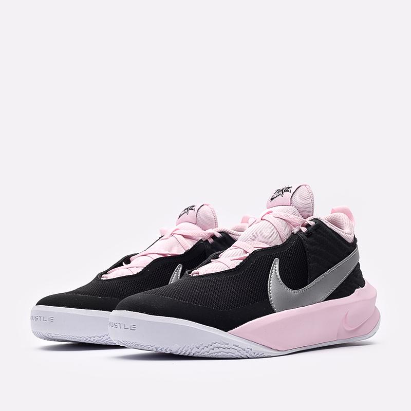 женские черные баскетбольные кроссовки Nike Team Hustle D 10 SE (GS) CW6735-003 - цена, описание, фото 3