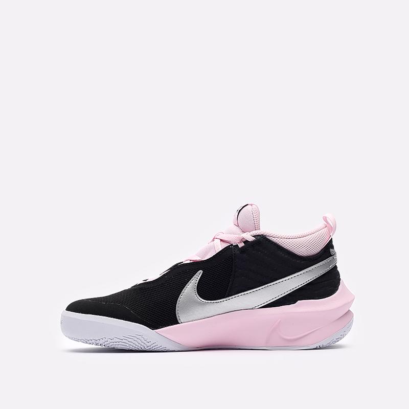 женские черные баскетбольные кроссовки Nike Team Hustle D 10 SE (GS) CW6735-003 - цена, описание, фото 2