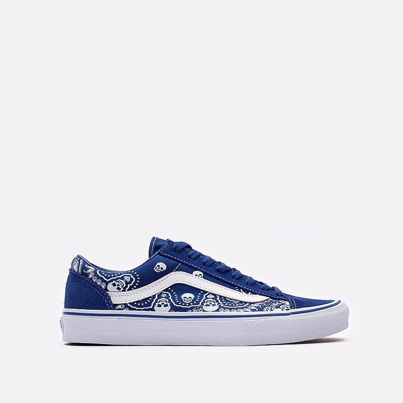мужские синие  кроссовки vans style 36 VA54F642UM - цена, описание, фото 1