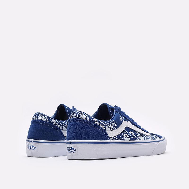 мужские синие  кроссовки vans style 36 VA54F642UM - цена, описание, фото 5