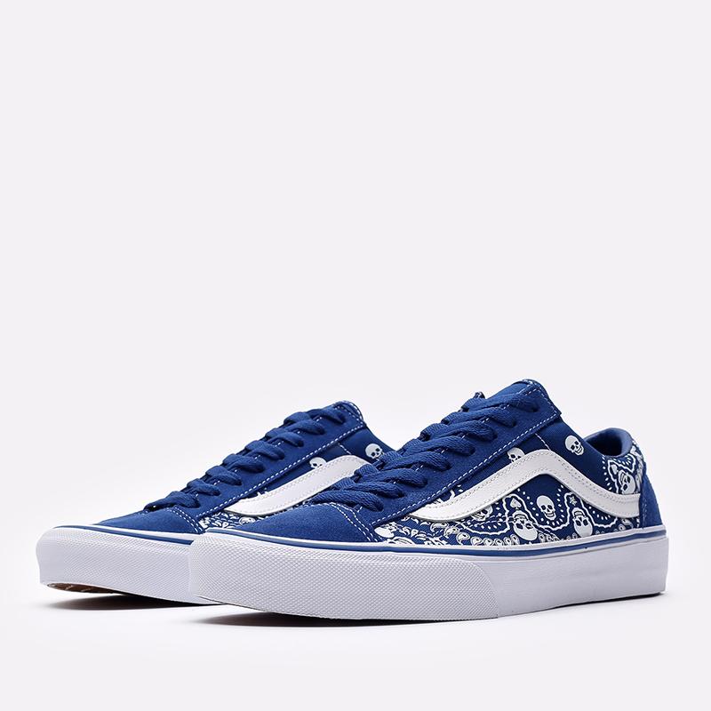 мужские синие  кроссовки vans style 36 VA54F642UM - цена, описание, фото 2