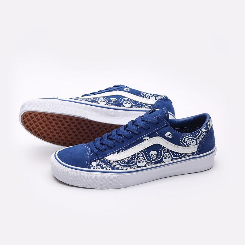 мужские синие  кроссовки vans style 36 VA54F642UM - цена, описание, фото 4