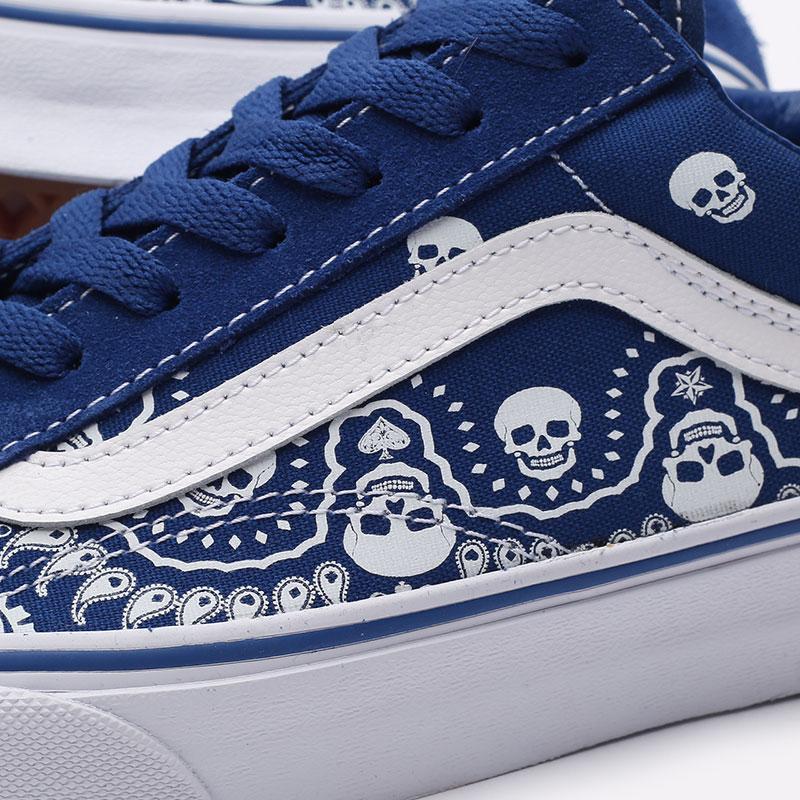 мужские синие  кроссовки vans style 36 VA54F642UM - цена, описание, фото 3