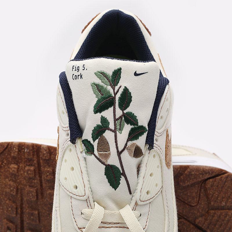 мужские бежевые  кроссовки nike air max 90 se DD0385-100 - цена, описание, фото 5