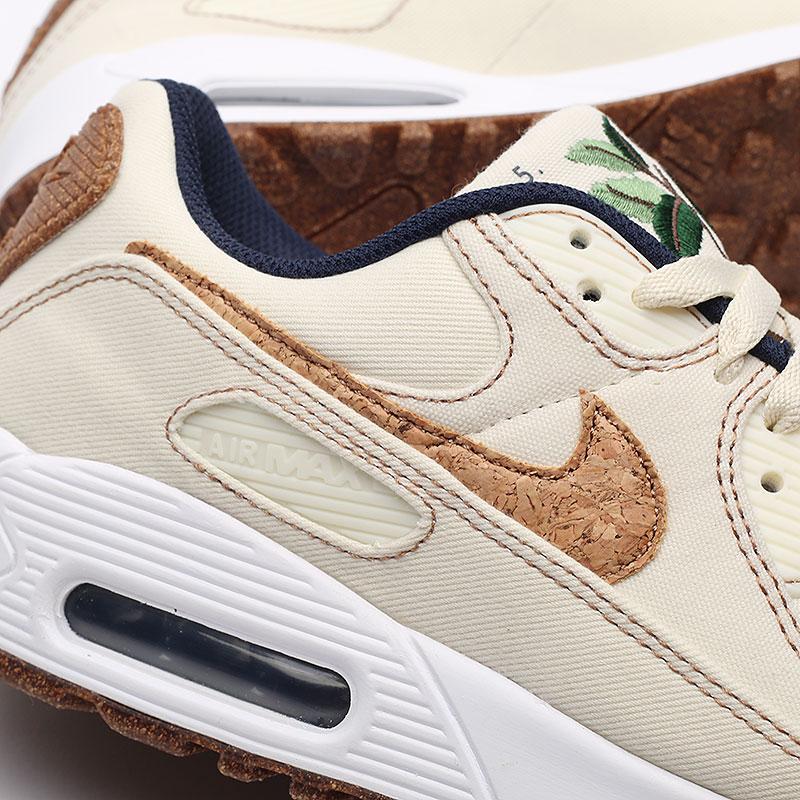 мужские бежевые  кроссовки nike air max 90 se DD0385-100 - цена, описание, фото 7