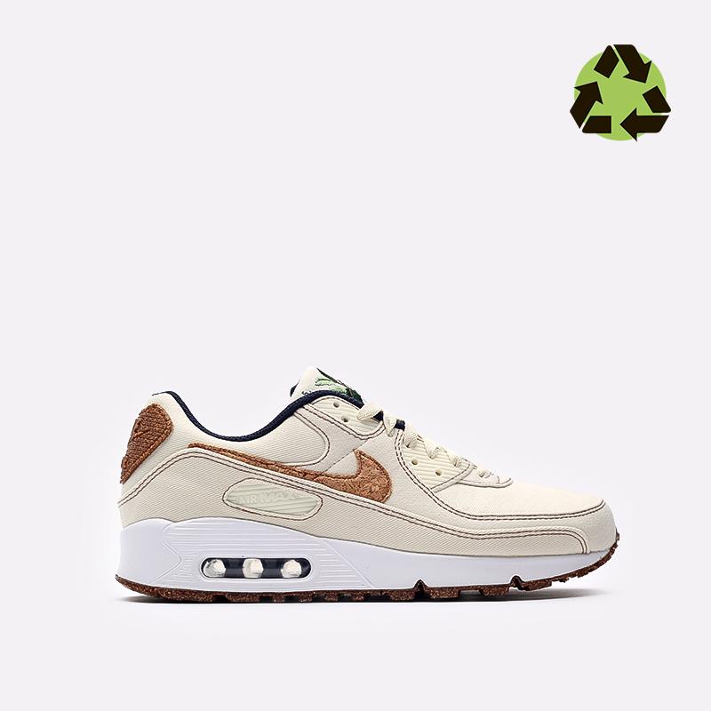 мужские бежевые  кроссовки nike air max 90 se DD0385-100 - цена, описание, фото 1
