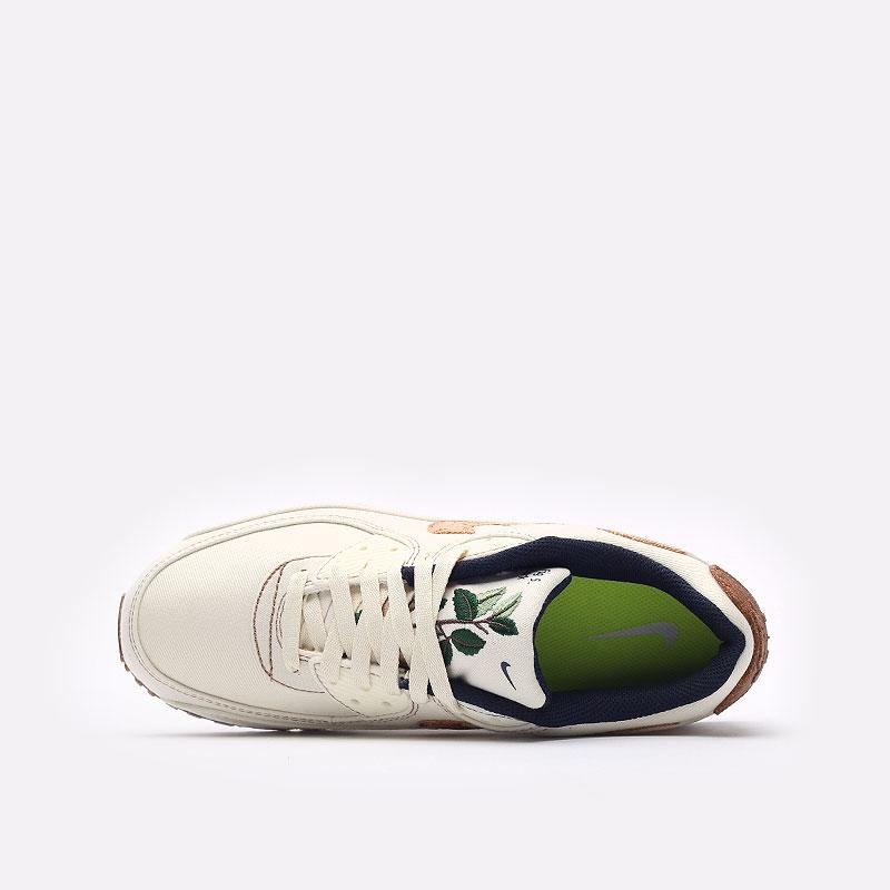 мужские бежевые  кроссовки nike air max 90 se DD0385-100 - цена, описание, фото 8