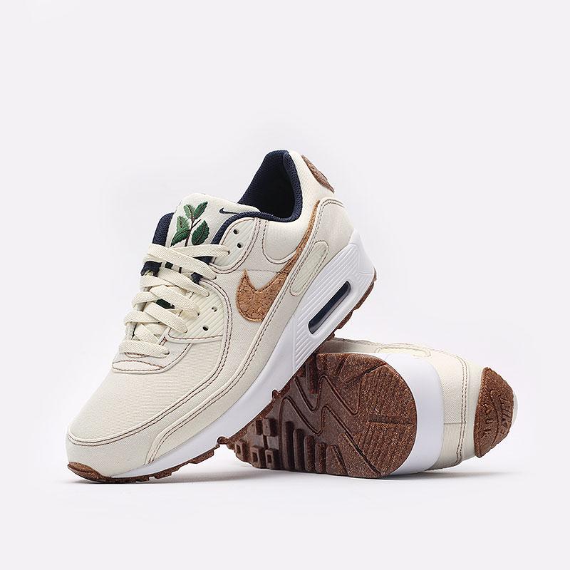 мужские бежевые  кроссовки nike air max 90 se DD0385-100 - цена, описание, фото 3