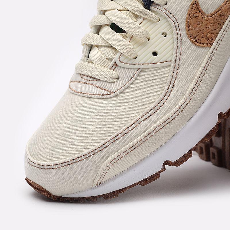 мужские бежевые  кроссовки nike air max 90 se DD0385-100 - цена, описание, фото 4