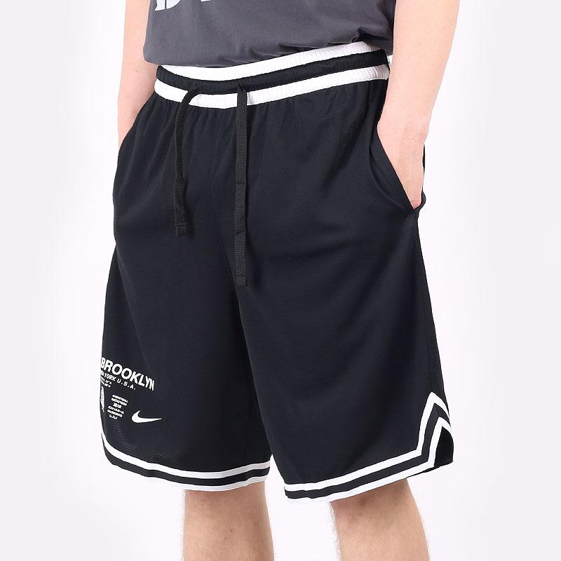 мужские черные  шорты  nike brooklyn short CV5528-010 - цена, описание, фото 1