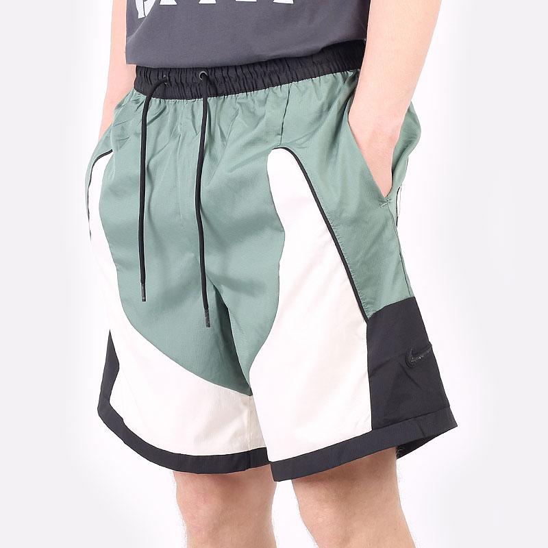 мужские зеленые  шорты  nike throwback basketball shorts CV1862-353 - цена, описание, фото 1