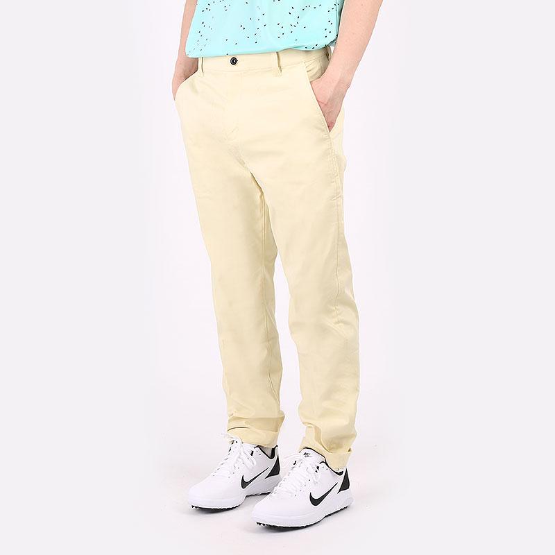 мужские желтые  брюки nike golf chino pant DA4130-723 - цена, описание, фото 1